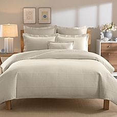 image of Real Simple® Linear Stone Duvet Cover