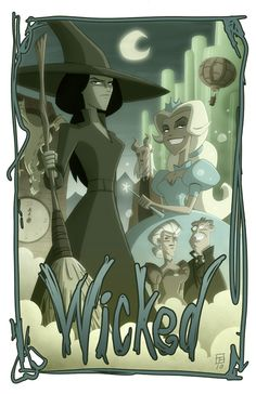 They could totally make an adult cartoon or animated movie out of Wicked. I would watch it.