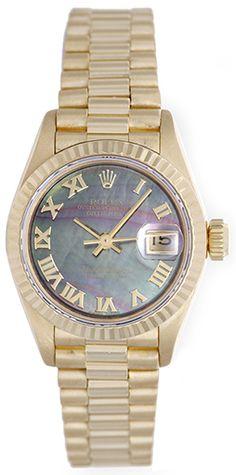 Rolex Lady President 18k Yellow Gold Ladies Diamond Watch 69178