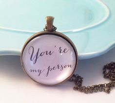 You're My Person Necklace Grey's Anatomy Jewelry by MinMac on Etsy