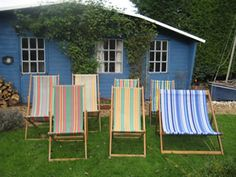 Valerie's Vintage Deckchair Hire and outdoor games hire. CROQUET! DECK CHAIRS! GIANT JENGA!