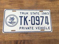 Micronesia Truk Chuuk Island License Plate Nummernschild Kennzeichen Plaque