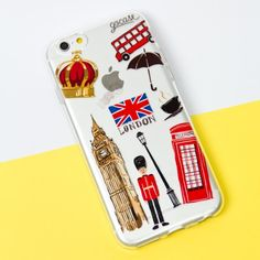 Capinha para celular Coisas de Londres Cute Cases, Cute Phone Cases, Iphone Phone Cases, Best Cell Phone, Cell Phone Covers, Capas Iphone 6, Smartphone, Coque Iphone, Iphone Accessories