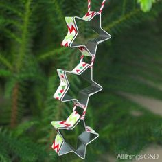 star cookie cutters ornament, christmas decorations, seasonal holiday decor