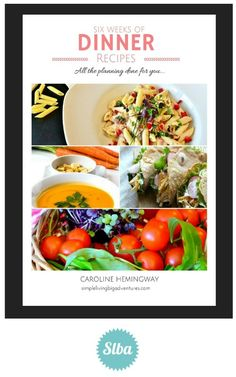 FREE EBOOK  6 Weeks of Dinner Plans All the hard work done for you Yummy Food, Tasty, Backyard Farming, Free Range, Simple Recipes, Hard Work, Free Ebooks, Easy Meals, Dinner
