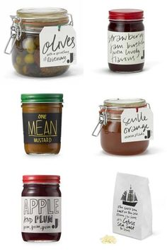Jamie Oliver's Illustrated Food Packaging Design | Design.org --- clever way to make personalized gifts. Scrawl/design tags in your own handwriting