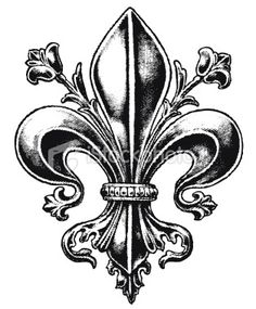 fleur de lis tattoo, like the embellishments.