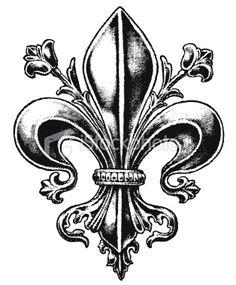 fleur de lis tattoo, like the embellishments.
