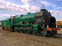 """Maunsell 4-6-0 No. 850 """"Lord Nelson"""" at the Eastleigh Works open event."""