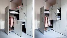 O atelier de arquitetura Kitoko Studio desenhou a reforma daquele que será provavelmente o apartamento mais pequeno do mundo, com apenas 8 metros quadrados (m2). Esta casa, situada em Paris, contava inicialmente apenas com uma casa de banho e uma janela. Agora tem um espaço para dormir, uma pequena cozinha uma casa de banho.