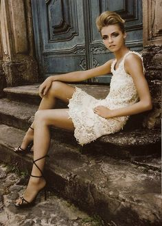 Lace...those shoes are sick too