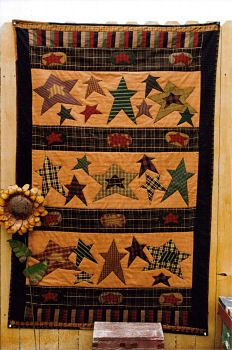 Love the stars! Could do star design on a patriotic quilt!