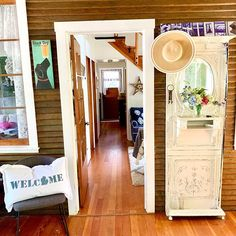 Image may contain: indoor Entrance Decor, Seasonal Decor, Farmhouse Decor, Oversized Mirror, Loft, Indoor, Holiday, Image, Furniture
