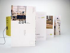 2/3/4 Arts Center / Brochure Design by Hilary Gaby, via Behance