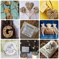 The bird seed hanging things are also cute favors.