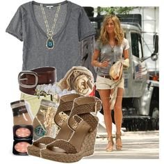 I have sandals like these- I love this whole look- or do I just wish I looked like her? ;) BOTH!!