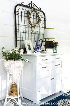 Summer dresser Decor   Vintage Garden Gate   On Sutton Place