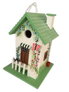 HB-6002S Butterfly Cottage Birdhouse (Single Unit - Green)