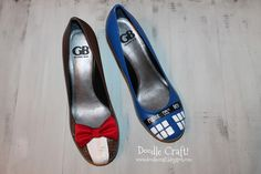 Doctor Who-Inspired Painted Heels | 29 Geek DIY's To Make Right Now