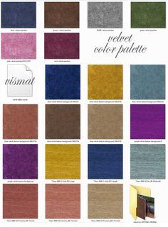 velvet textures color palette