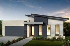 "Képtalálat a következőre: ""contemporary single story house facades australia"" Contemporary House Plans, Modern House Plans, Modern House Design, Modern House Facades, Modern Architecture House, House Roof, Facade House, Style At Home, House Cladding"