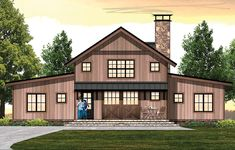 Page 2 of 5 for Barn House Plans & Barn Home Designs Cabin House Plans, Rustic House Plans, Mountain House Plans, 4 Bedroom House Plans, House Plans One Story, Modern Farmhouse Plans, Best House Plans, Story House, Barn Style House Plans