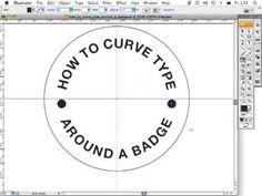 How to curve type around a badge using Adobe Illustrator CS3 - ArtworkExplained.com.au - YouTube