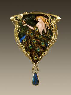 art nouveau enamel