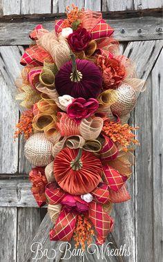 Fall Wreath Fall Swag Autumn Swag Autumn Wreath Rustic