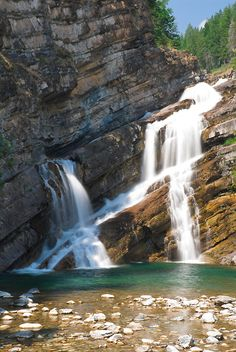 Cameron Falls in Waterton Lakes National Park, Canada