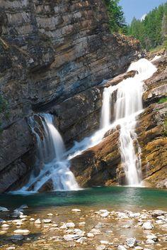 Cameron Falls in Waterton Lakes National Park, Canada