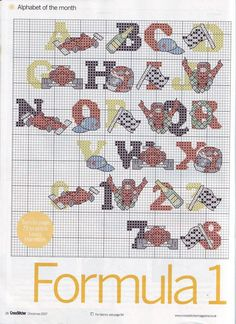 Alphabet Formula 1 (1) - free cross stitch patterns crochet knitting amigurumi