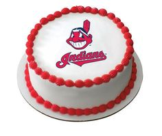 MLB Cleveland Indians Edible Icing Sheet Cake Decor Topper