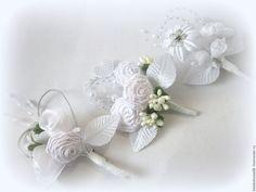 Купить свадебные бутоньерки - белый, свадьба, свадебные аксессуары, свадебное украшение, свадебные украшения