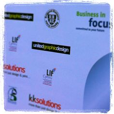 Our logo on the red carpet at the Business Awards. #bridgend #business #awards #logo #united #graphic #design