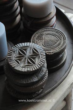 oude houten stempels uit India