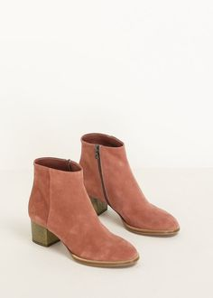 northmagneticpole:  Old Rose Suede Ankle Boots-Dries Van Noten...