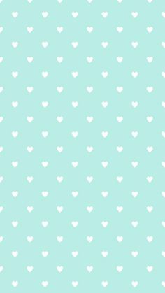 Mint blue #heart shaped pattern iphone background