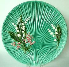 "Early 1900's ART NOUVEAU Schramberg GERMANY Lily of the VALLEY 11 5/8"" Plate"