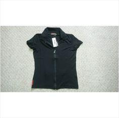 Designer BNWT PRADA Ladies Casual Fitness Style Zip Front Top