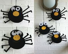 Paper Craft Halloween spiders