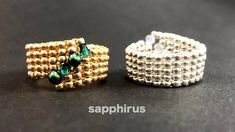 Diy Beaded Rings, Beaded Earrings, Beaded Bracelets, Beaded Crafts, Jewelry Crafts, Bead Jewellery, Beaded Jewelry, Beading Tutorials, Seed Beads