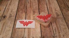 Wonder Woman Wonderwoman Superhero Comic Book super power Scrapbook diy birthday Scrapbooking Hand Carved Rubber Stamp by KindredStamps