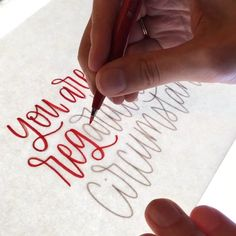 brush lettering videos by Lauren Ibach