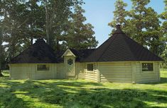 Finse kota Sauna cabin Double Glass Windows, Bbq Hut, Timber Cabin, Roof Covering, Roof Panels, The Other Side, Backyard Patio, Gazebo, Outdoor Living