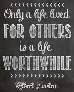 Only+a+life+lived+for+others+-+einstein+quote+print+2