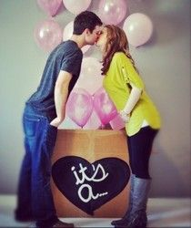 Cute gender reveal picture