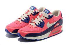 Nike Air Max 90 Womens UK Cheap -Pink Purple NK-shoes217