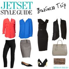 Never overpack for a business trip again. http://www.hithaonthego.com/jetset-style-guide-business-trip/ #travel #packing
