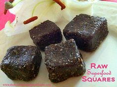 These little Raw Superfood Squares pack a powerful  variety of the best of the best superfoods. They are a bit of a change for me because I usually incorporate all these superfoods into my morning ...